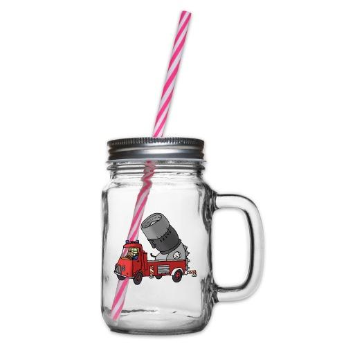 Wasserwerfer - Henkelglas mit Schraubdeckel