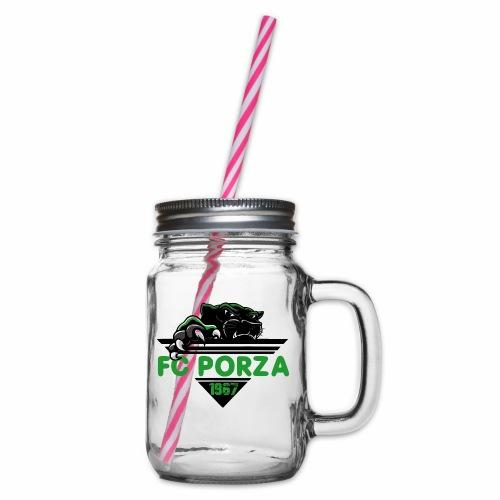 FC Porza 1 - Henkelglas mit Schraubdeckel