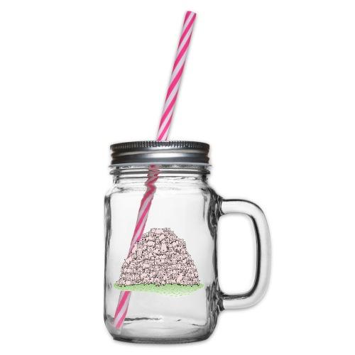 Der Sauhaufen - Henkelglas mit Schraubdeckel