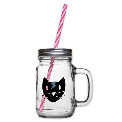 Bowie Cat - Henkelglas mit Schraubdeckel