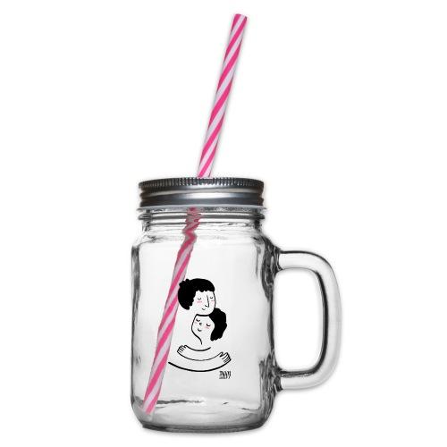 LYD 0002 00 Lieblingsmensch - Henkelglas mit Schraubdeckel