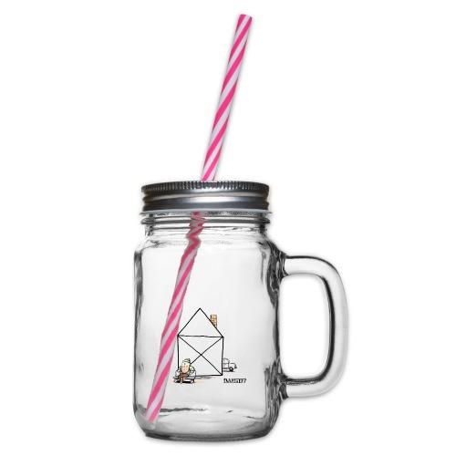 Stef 0003 00 Haus - Henkelglas mit Schraubdeckel