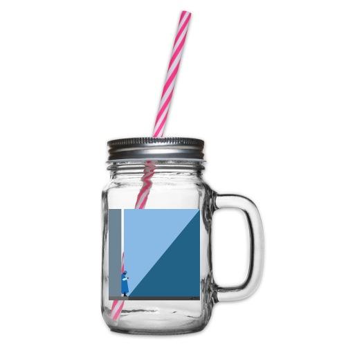 TOUAREG - Glass jar with handle and screw cap