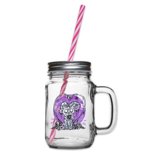 Kitty von Absurd ART - Henkelglas mit Schraubdeckel