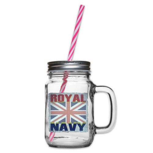 ROYAL NAVY - Glass jar with handle and screw cap
