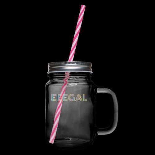 Egal EEEGAL Schlager Meme Musik Song - Henkelglas mit Schraubdeckel