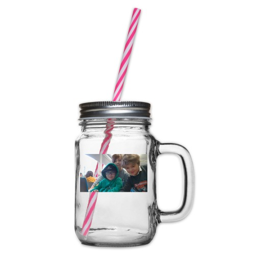 hihi - Glas med handtag och skruvlock