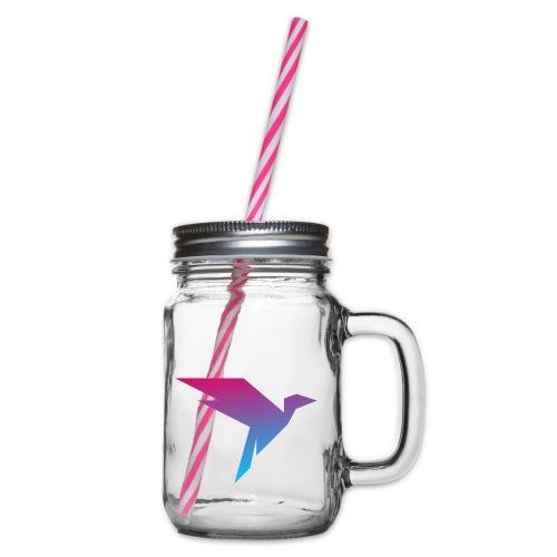 Humanisten Vogel - Henkelglas mit Schraubdeckel