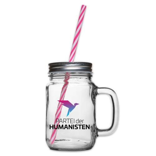 Statement Logo - Henkelglas mit Schraubdeckel
