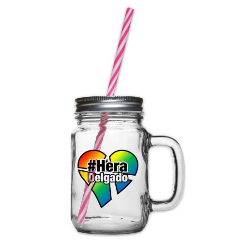 #HeraDelgado - Henkelglas mit Schraubdeckel