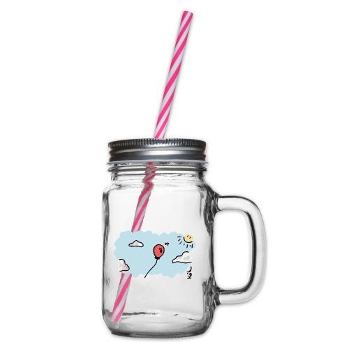 Ballonliebhaber - Henkelglas mit Schraubdeckel