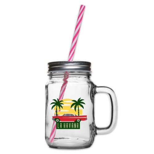 La Havana Vintage - Henkelglas mit Schraubdeckel