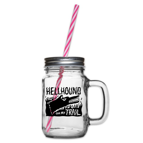 Hellhound on my trail - Glass jar with handle and screw cap