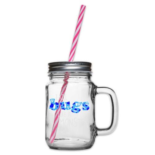 ikillbugslikeamonster - Glass jar with handle and screw cap