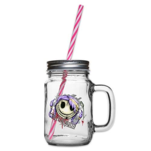 Totenknöpfin - Henkelglas mit Schraubdeckel
