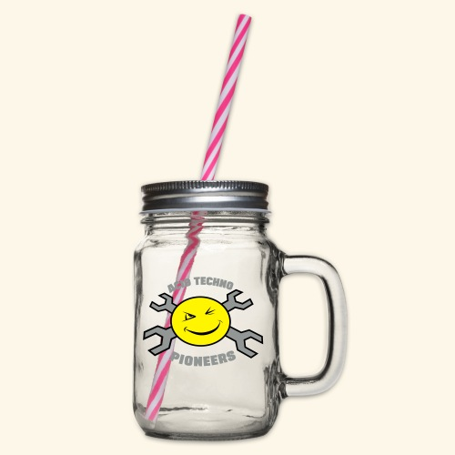ACID TECHNO PIONEERS - SILVER EDITION - Glass jar with handle and screw cap