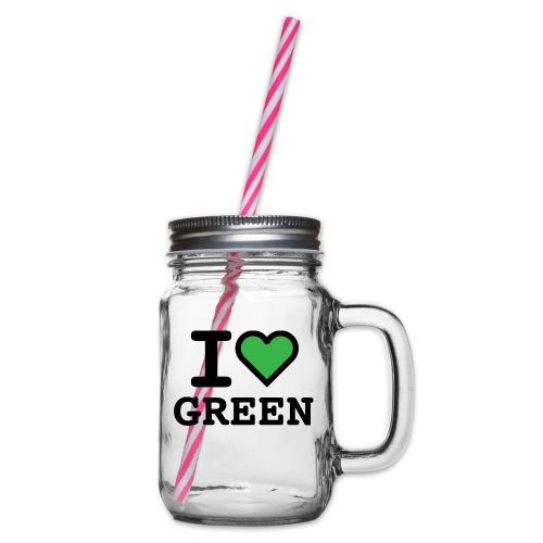 i-love-green-2.png - Boccale con coperchio avvitabile
