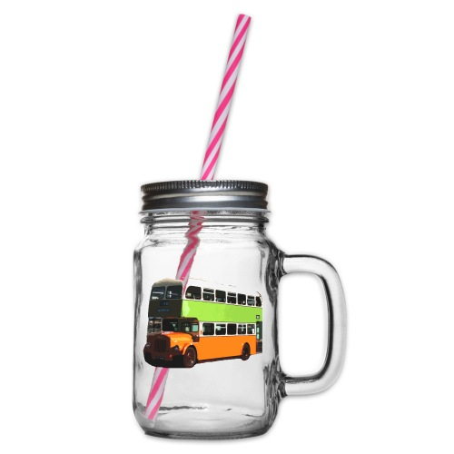 Glasgow Corporation Bus - Glass jar with handle and screw cap