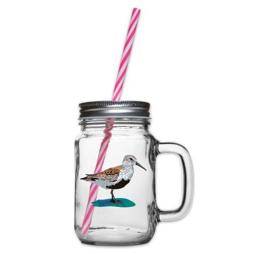 Alpenstrandläufer - Henkelglas mit Schraubdeckel
