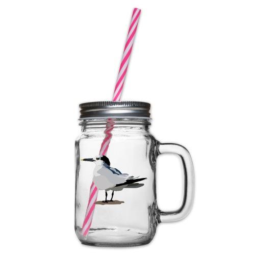 Brandseeschwalbe - Henkelglas mit Schraubdeckel