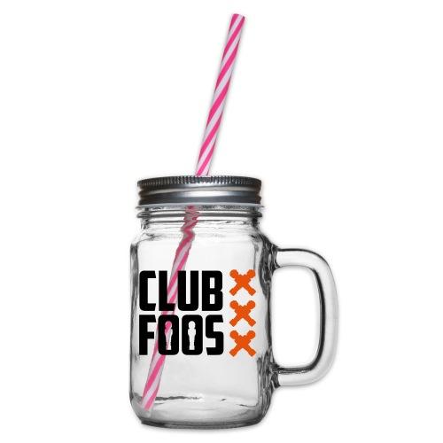 front-logo-crosses - Drinkbeker met handvat en schroefdeksel