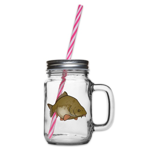 Red River: Carp - Glass jar with handle and screw cap