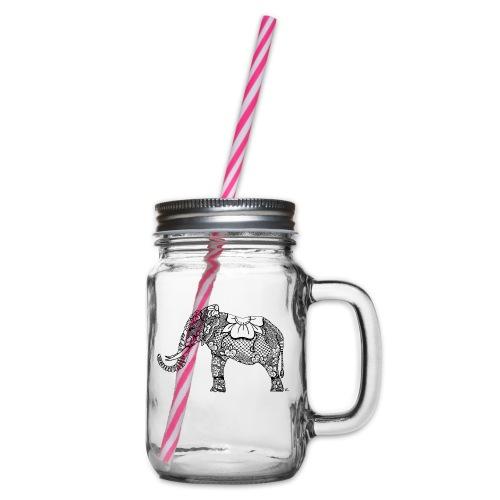 Éléphant oriental - Bocal à boisson