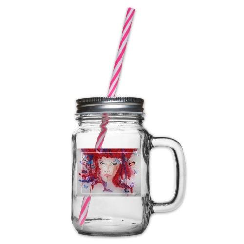 Butterfly Love - Henkelglas mit Schraubdeckel