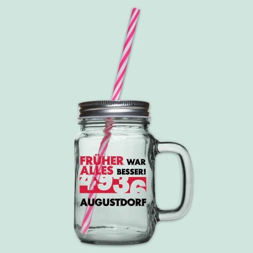 Früher 4936 Augustdorf - Henkelglas mit Schraubdeckel