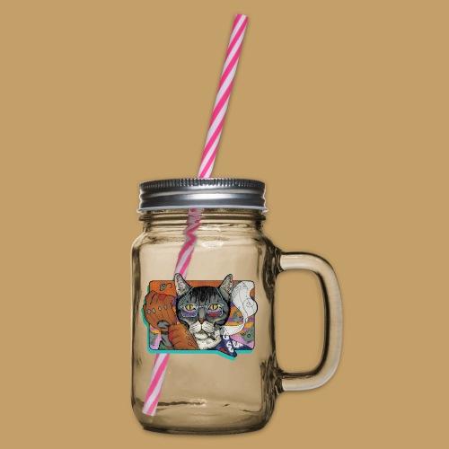 Crime Cat - Słoik do picia z pokrywką