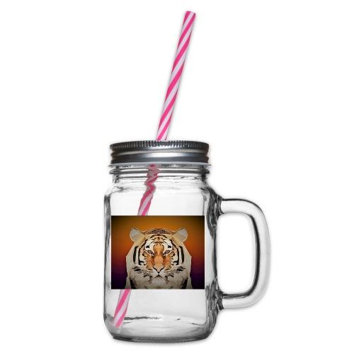 TIGER copy jpg edited windows - Glass jar with handle and screw cap