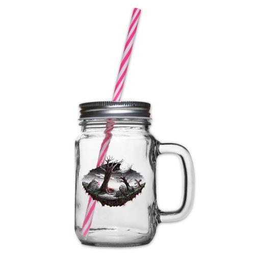 Horrorcontest scribblesirii - Henkelglas mit Schraubdeckel