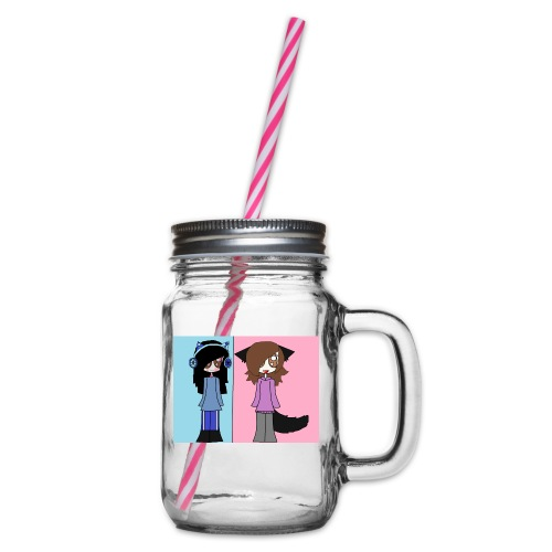 me and ash - Glass jar with handle and screw cap