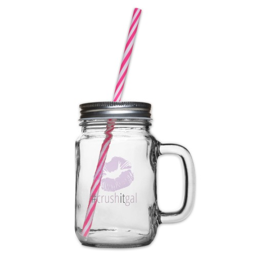 #crushitgal - Glass jar with handle and screw cap