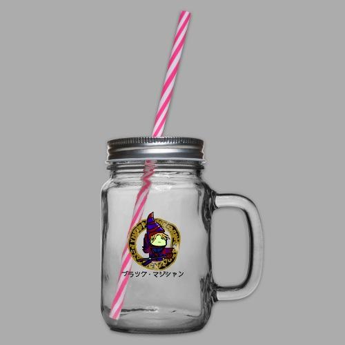 Dunkler Magier - Henkelglas mit Schraubdeckel