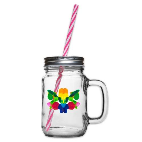 Tintenklecks zur Inspiration - Henkelglas mit Schraubdeckel