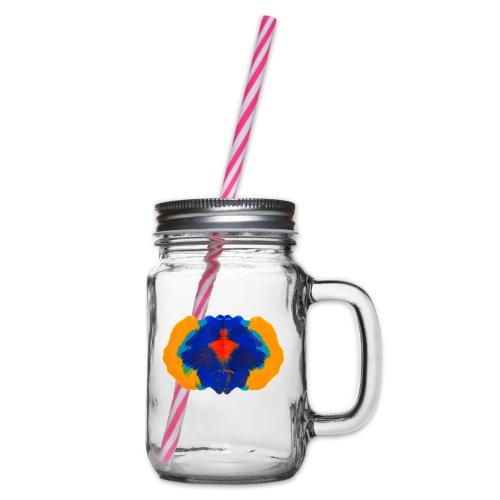 Tintenklecks Rorschach Geist Kreativität - Henkelglas mit Schraubdeckel