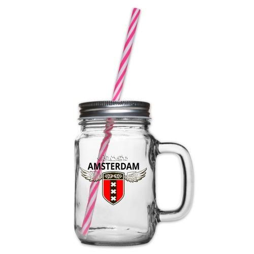 Amsterdam Netherlands - Henkelglas mit Schraubdeckel