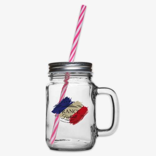 France Football - Henkelglas mit Schraubdeckel