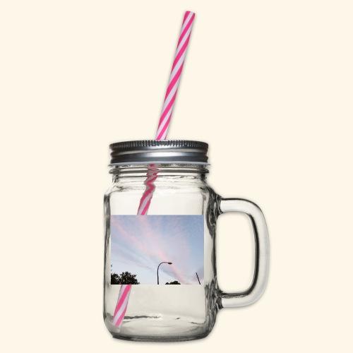 Abendhimmel - Henkelglas mit Schraubdeckel