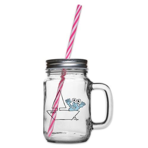 Segelmonster Sylt - Henkelglas mit Schraubdeckel