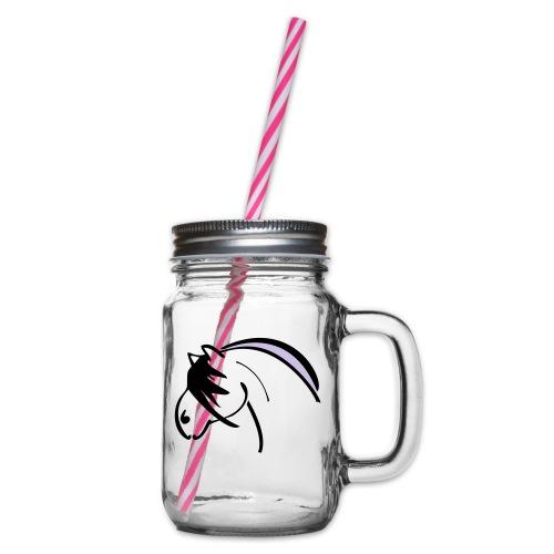 nor - Henkelglas mit Schraubdeckel