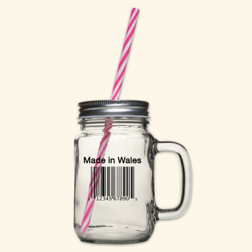 Made in Wales - Glass jar with handle and screw cap