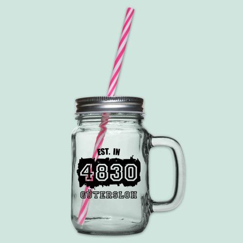 4830 Gütersloh - Established - Henkelglas mit Schraubdeckel