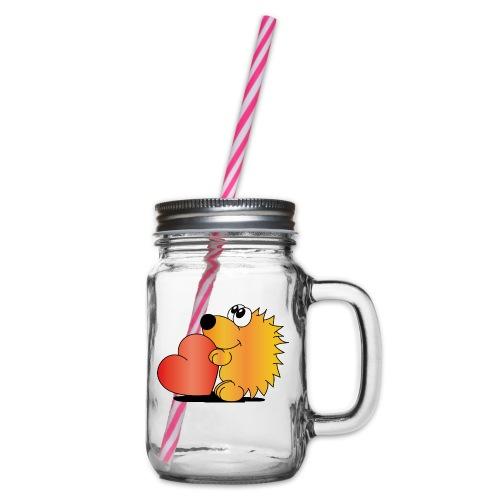 Igelchen - Henkelglas mit Schraubdeckel