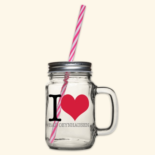 Love is in the Kurstadt - Henkelglas mit Schraubdeckel