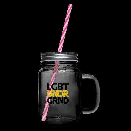 LGBT UNDERGROUND - Glass jar with handle and screw cap