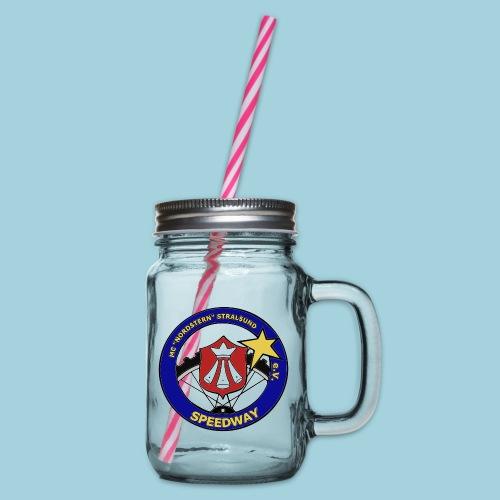 MCN Logo - Henkelglas mit Schraubdeckel