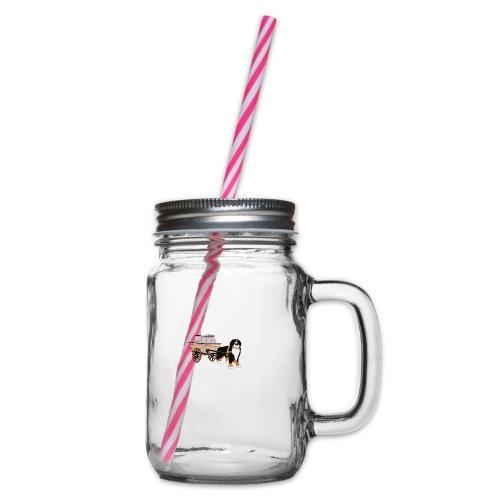 bernerhane drag - Glas med handtag och skruvlock