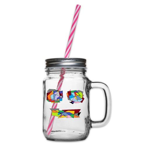 TheFace - Henkelglas mit Schraubdeckel